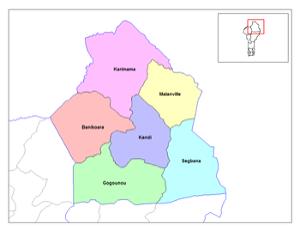 Le département de l'Alibori